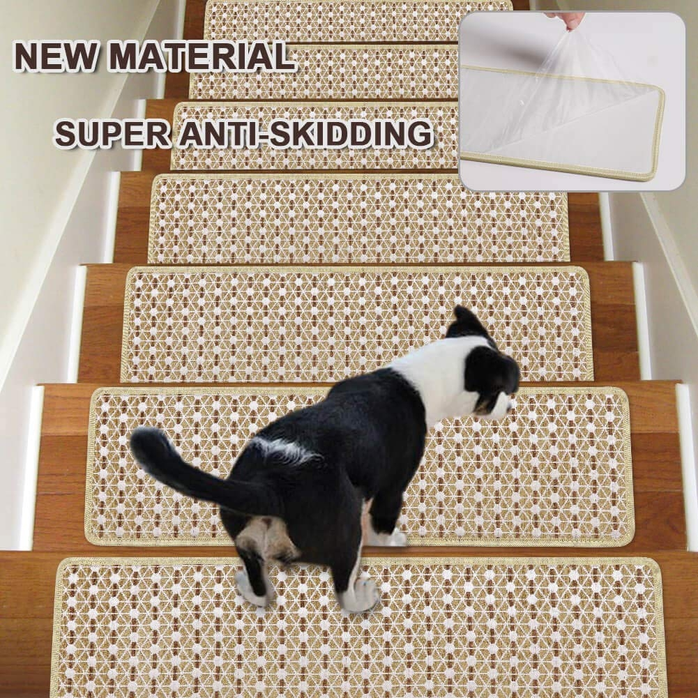 Stair Treads Non Slip Carpet Indoor Set Of 13 Beige Carpet Stair | Non Skid Carpet Stair Treads | Amazon