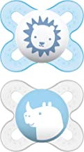 MAM Start Newborn Pacifiers (2 pack, 1 Sterilizing Pacifier Case), Newborn Baby Boy..