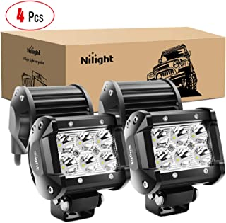 Nilight – 60001S-C LED Light Bar 4PCS 18W 1260lm Spot LED Pods Driving Fog Light..