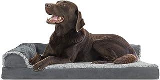 Furhaven Pet Dog Bed – Ergonomic Contour Lounger & Therapeutic Sofa-Style L..