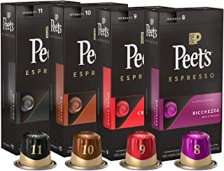 Peet's Coffee Espresso Capsules Variety Pack, 40 Count Single Cup Coffee Pods,..
