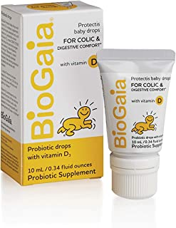 BioGaia Protectis Probiotics Drops with Vitamin D for Baby, Infants, Newborn and Kids..