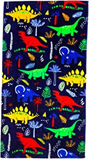 "YIFONTIN Beach Towel for Kids, 100% Cotton Soft Blanket Throw, 24"" X 48"" Dinosaur.."