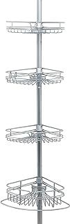 Zenna Home Shower Tension Pole Caddy, Satin Chrome