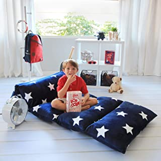 Butterfly Craze Kids Floor Pillow Fold Out Lounger Fabric Cover for Bed and Game Rooms,..