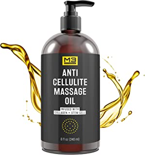 M3 Naturals Anti Cellulite Massage Oil Infused with Collagen and Stem Cell –..
