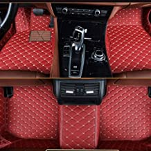 muchkey Leather Car Mats Carpet For Cars Red Wine Car Floor Mats Fit For BMW X5 E70 2008..