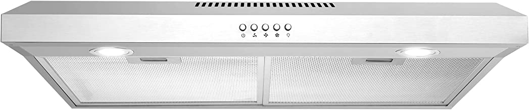 Cosmo 5U30 30 in. Under Cabinet Range Hood with Ducted / Ductless Convertible Slim..