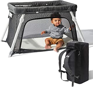 Lotus Travel Crib – Backpack Portable, Lightweight, Easy to Pack Play-Yard with..