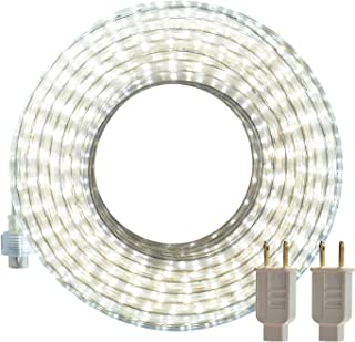 LED Rope Lights Outdoor, SURNIE White 50ft Waterproof Flexible Strip Lights Kit 110V..