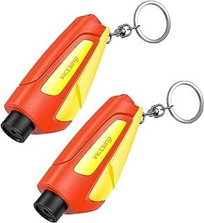 VicTsing Window Breaker Seatbelt Cutter, Portable Glass Breaker Keychain for Land &..