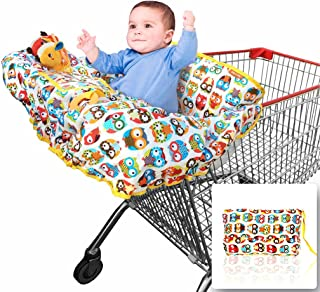 2-in-1 Croc n Frog Shopping Cart Covers for Baby Boy or Girl and High Chair Cover –..