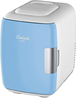 Cooluli Mini Fridge Electric Cooler and Warmer (4 Liter / 6 Can): AC/DC Portable..
