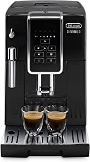 Delonghi super-automatic espresso coffee machine with an adjustable grinder, milk..