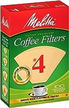 Melitta #4 Super Premium Cone Coffee Filters, Natural Brown, 100 Count (Pack of 6)