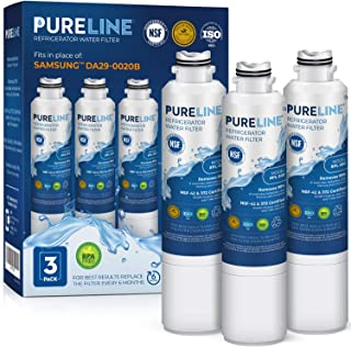 PureLine DA29-00020B Refrigerator Water Filter Replacement. Compatible Samsung Models:..