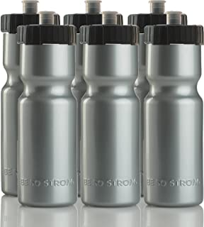 Sports Squeeze Water Bottles – Set of 6 – Team Pack – 22 oz. BPA Free..