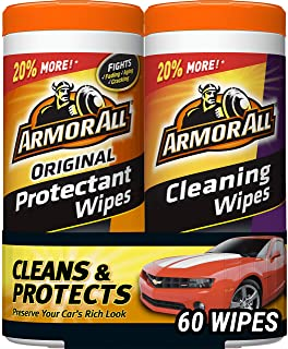 Armor All Car Interior Cleaner Protectant Wipes – Cleaning for Cars & Truck..