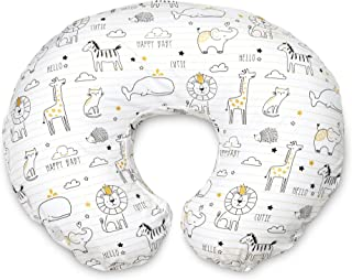Boppy Original Nursing Pillow and Positioner, Notebook Black and Gold, Cotton Blend..