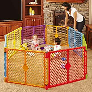 Toddleroo by North States Superyard Colorplay 8 Panel Baby Play Yard: Safe play area..