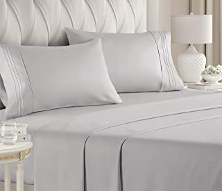Queen Size Sheet Set – 4 Piece Set – Hotel Luxury Bed Sheets – Extra..
