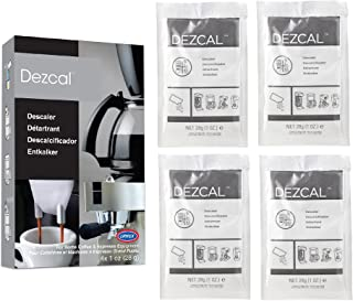 Urnex Dezcal Coffee and Espresso Descaler and Cleaner – 4 Uses – Activated..