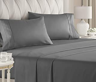 Queen Size Sheet Set – 4 Piece – Hotel Luxury Bed Sheets – Extra Soft..