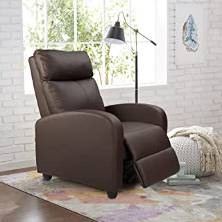 Homall Single Recliner Chair Padded Seat PU Leather Living Room Sofa Recliner Modern..