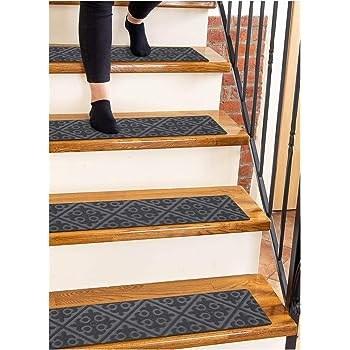 Amazon Com Carpet Stair Treads Set Of 13 Non Slip Skid Rubber | Temporary Carpet For Stairs | Flooring | Protection | Stair Runner | Film | Magic Carpet