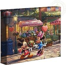 Thomas Kinkade Studios Mickey and Minnie Sweetheart Cafe 8 x 10 Gallery Wrapped Canvas