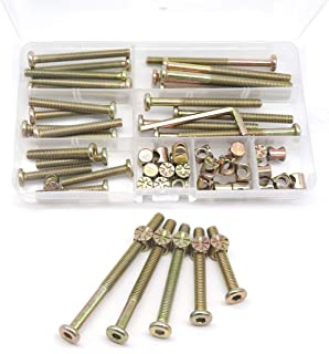 Baby Bed Crib Screws Hardware Replacement Kit, cSeao 25-Set M6x40mm/ 50mm/ 60mm/ 70mm/..