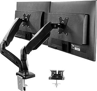 VIVO Dual Arm Monitor Desk Mount Height Adjustable, Tilt, Swivel, Counterbalance..