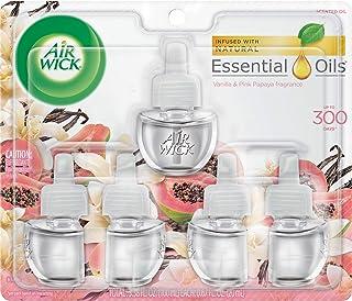 Air Wick plug in Scented Oil 5 Refills, Vanilla & Pink Papaya, (5×0.67oz),..