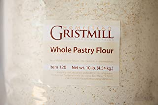 Homestead Gristmill — Stone-ground Whole Pastry Flour (10 lb), Artisanally Milled from Certified Organic Soft White Wheat Berries