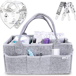 Putska Baby Diaper Caddy Organizer: Portable Holder Bag for Changing Table and Car,..