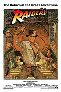 Indiana Jones – Raiders Of The Lost Ark – Movie Poster (1982 Re-Release)..