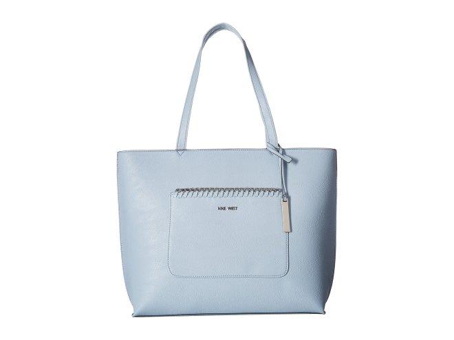 Nine West - Tangled Up Tote (Powder Blue) Tote Handbags