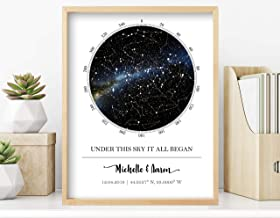 Custom Star Map – Personalized Star Map (Multiple Sizes – Unframed Star..