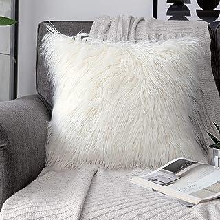 PHANTOSCOPE Decorative New Luxury Series Merino Style Fur Throw Pillow Case Cushion Cover..
