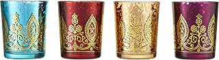 Kate Aspen Indian Jewel Henna Glass Votives, Tealight Candle Holders, Wedding..