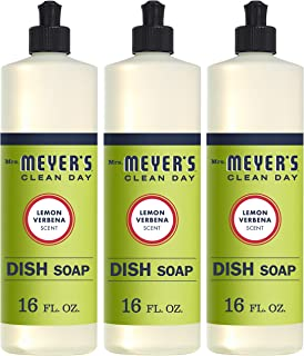 Mrs. Meyer's Clean Day Liquid Dish Soap, Cruelty Free Formula, Lemon Verbena Scent,..