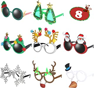 Ocean Line Novelty Christmas Glasses – 8 Pack Creative Funny Eyewear, Happy New..