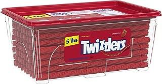 TWIZZLERS Licorice Halloween Candy, Strawberry, 5 Pound