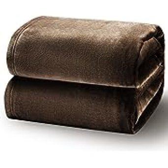 Bedsure Fleece Blanket Queen Blanket Brown - Bed Blanket Soft Lightweight Plush Fuzzy Cozy Luxury Microfiber, 90x90 inches, Opens in a new tab