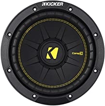Kicker 44CWCD84 CompC 8 Inch 4 Ohm 200 Watt RMS Power and 400 Watts Peak Power Dual Voice..