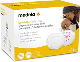 Medela Safe & Dry Ultra Thin Disposable Nursing Pads, 120 Count Breast Pads for..