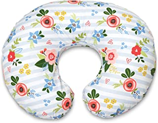 Boppy Original Nursing Pillow and Positioner, Blue Pink Posy, Cotton Blend Fabric with..