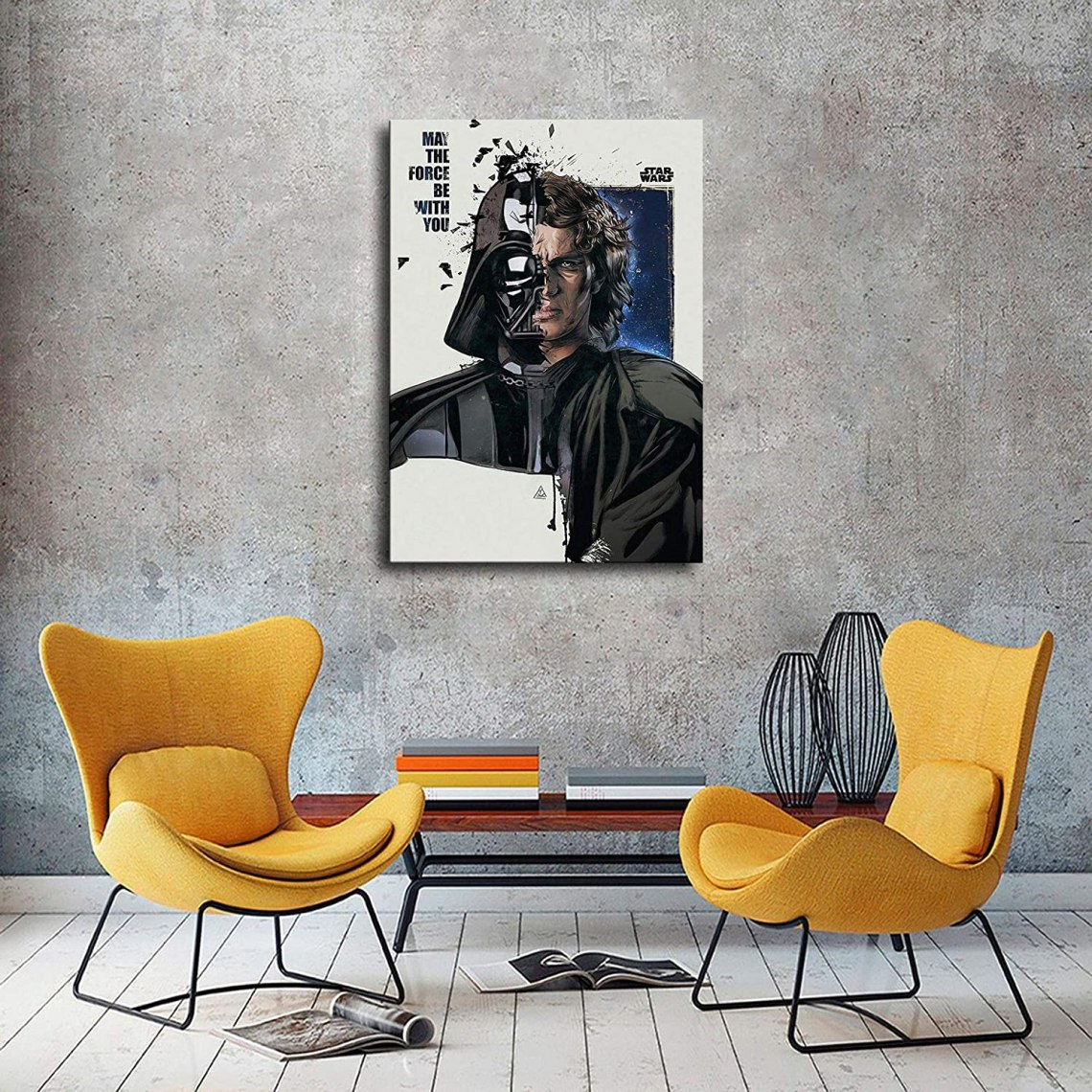 Buy Anakin Skywalker And Darth Vader Character Wallpaper Hd Print Canvas Art Living Room Wall Decoration Room Mural Office Decor Star Wars Posters 24x36inch No Frame Online In Indonesia B08qhtnvsk
