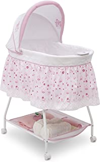Disney Baby Ultimate Sweet Beginnings Bedside Bassinet – Portable Crib with Lights,..