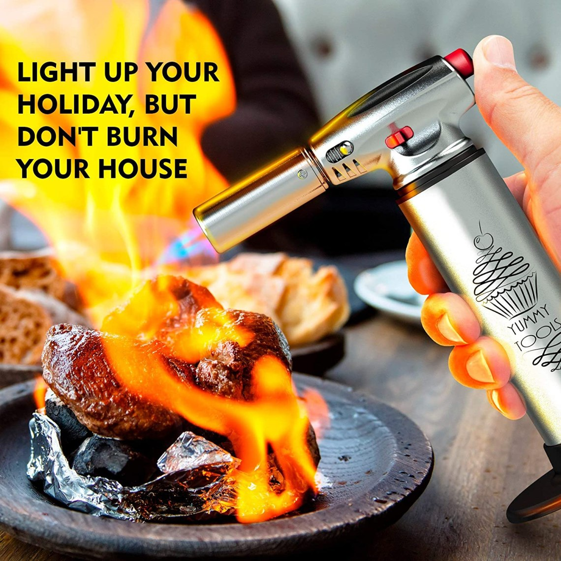 Buy Best Culinary Torch Chef Torch For Cooking Creme Brulee Aluminum Hand Butane Kitchen Torch Blow Torch With Adjustable Flame Cooking Torch Perfect For Baking Bbqs Crafts